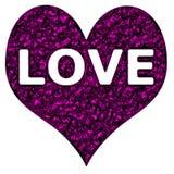 Púrpura Chrome del corazón del amor Fotos de archivo libres de regalías