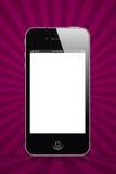 Púrpura de Iphone imágenes de archivo libres de regalías