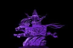 Púrpura de la escultura de hielo de los Immortals y de Pegaso Fotografía de archivo