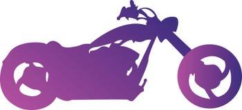 Púrpura de la moto Fotografía de archivo libre de regalías