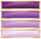 Púrpura de oro del marco ilustración del vector