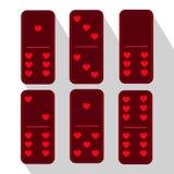 Púrpura del dominó Tres y Corazón de seis pedazos libre illustration
