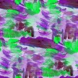 Púrpura del fondo de la acuarela, PA inconsútil verde del extracto de la textura Foto de archivo libre de regalías