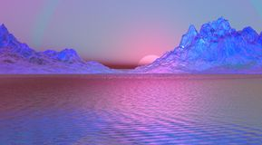 Púrpura del paisaje Fotografía de archivo