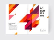 Púrpura, líneas diagonales amarillas y rojas y triángulos Fotografía de archivo libre de regalías