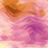 Púrpura poligonal abstracta y azul del fondo Fotos de archivo libres de regalías