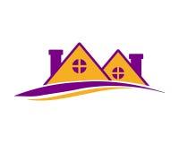 Púrpura residencial de la casa Fotos de archivo libres de regalías