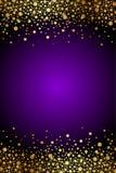 Púrpura y fondo del lujo del oro ilustración del vector