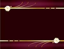 Púrpura y fondo elegante 1 del oro ilustración del vector