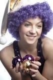 Púrpura y oro Fotos de archivo libres de regalías