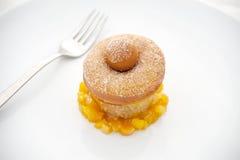 Pączka deser z Pomarańczowy Marmoladowym Fotografia Stock
