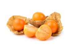 Pęcherzycy owoc na białym tle Fotografia Royalty Free