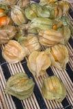 Pęcherzycy owoc & x28; Pęcherzycy peruviana& x29; także nazwany przylądka agrest, Zdjęcie Royalty Free