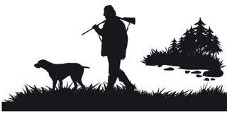 Pędny polowanie zwierzęta i landscapes10 ilustracja wektor