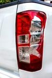 Pęka białego samochód Fotografia Stock