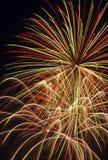pęka fajerwerki wieloskładnikowych Obraz Royalty Free