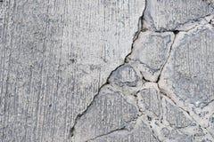 Pęknięcia na betonowej drodze obraz royalty free