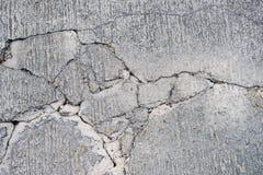 Pęknięcia na betonowej drodze fotografia royalty free