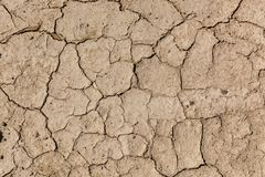 Pęknięcia w ziemi od droughtcracks Obrazy Royalty Free