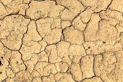 Pęknięcia w ziemi od droughtcracks Obrazy Stock