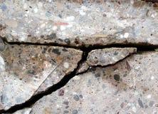 pęknięcie betonu Obraz Royalty Free