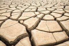 Pęknięcie gruntuje w suchym środowisku, Pattani, Tajlandia Obrazy Royalty Free