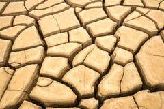 Pęknięcie gruntuje w suchym środowisku, Pattani, Tajlandia Fotografia Royalty Free