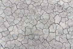 Pęknięcie tekstury ziemi powierzchnia Obrazy Royalty Free