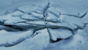 pęknięte lodu Fotografia Royalty Free