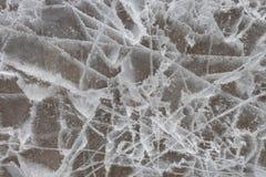 pęknięte lodu Zdjęcie Stock