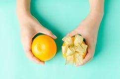 Pępek pomarańcze zdjęcie royalty free