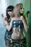 pętań dziewczyn metal Zdjęcia Royalty Free