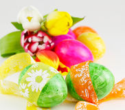 Pętle wokoło Wielkanocnych jajek Zdjęcie Royalty Free