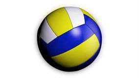 Pętli animacja siatkówki balowy przędzalnictwo biały tło Animacja siatkówki piłka royalty ilustracja