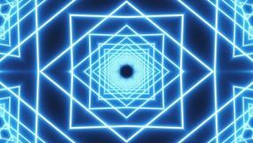 Pętli błękitny neonowy tunelowy tło royalty ilustracja