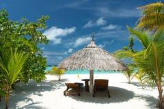 płótno plażowa przewodniczy tropikalnego obrazy royalty free
