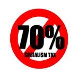 Płaci twój 70% Socjalistycznego podatek obraz royalty free