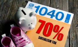 Płaci twój 70% Socjalistycznego podatek zdjęcia royalty free