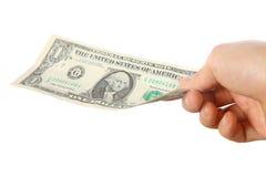 Płaci U S 1 dolar rachunku Zdjęcie Stock