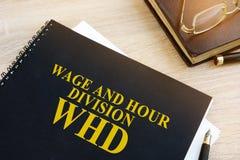 Płacy i godziny podział WHD fotografia stock