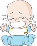 płacz dziecka ilustracja wektor