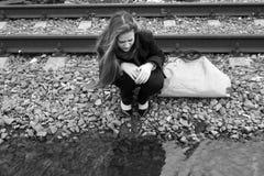płacz dziewczyna Obrazy Royalty Free