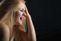 Płacz kobieta zdjęcia stock