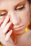 płacz kobieta Fotografia Royalty Free