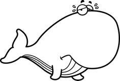 Płacz kreskówki wieloryb ilustracji