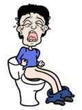 Płacz toaleta ilustracja wektor
