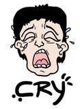 Płacz twarz ilustracji