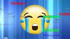 Płacz twarzy żółty emoji ilustracja wektor
