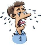 Płacze mężczyzna ilustracja wektor