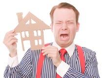 Płaczu biznesu houseowner obrazy stock